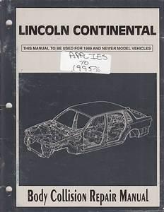 1996 Lincoln Continental Repair Shop Manual Original