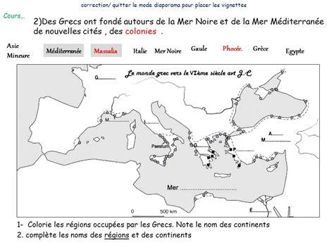 Carte Vierge Du Monde Des Cités Grecques by La Mediterranee Antique Au 1er Mill 233 Naire Avt Jc Ppt