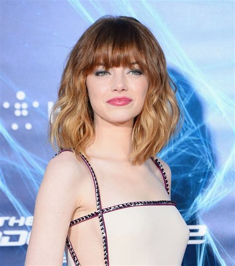 Emma Stone Brings Back Her Bangs (plus, The Scoop On Her