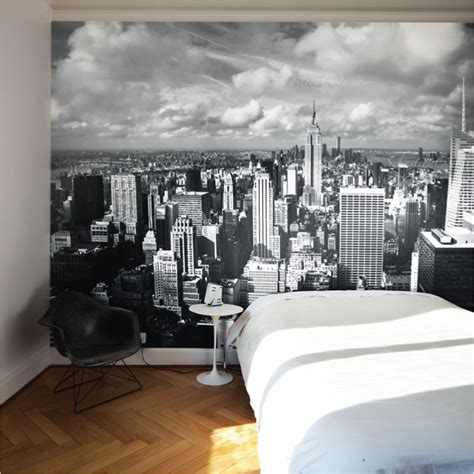 new york removable wall mural contemporary wallpaper