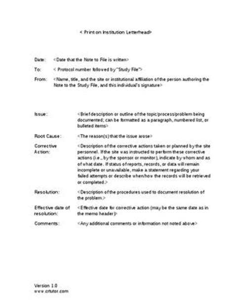 Note To File Template Download by Pharma Student - Issuu