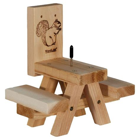squirrel feeder chair plans woodlink picnic table squirrel feeder sqf7 the home depot