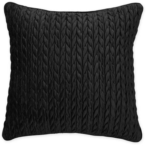 better homes and gardens cable plush decorative pillow