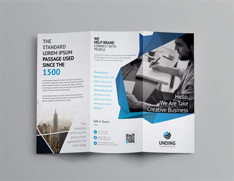 Tri Fold Brochures Templates by Fancy Business Tri Fold Brochure Template 001170
