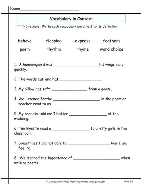 multiple meaning worksheets for 4th grade school worksheets for 5th grade denthia co