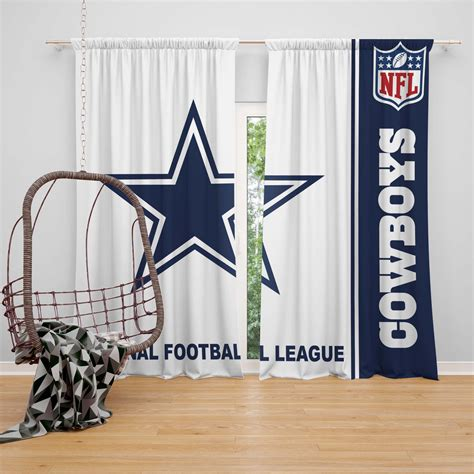 nfl dallas cowboys bedroom curtain ebeddingsets