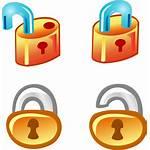 Lock Unlock Icon Vector Icons Clipart Clip
