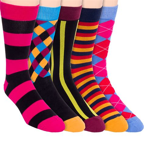 colorful dress socks jyinstyle mens cotton colorful patterned fashion crew