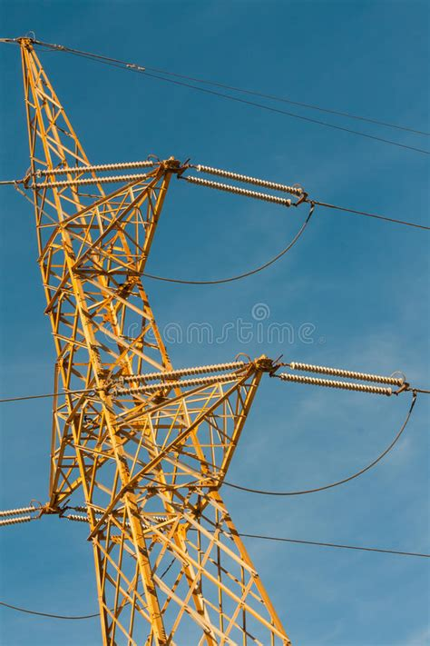 Elettric Pylons Truss In A Sky Stock Image - Image of blue ...