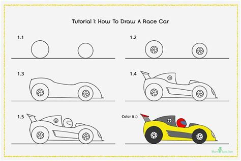 how to draw a car step by step for elementary