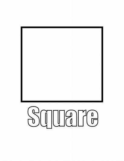 Coloring Square Pages Shapes Shape Printable Squares