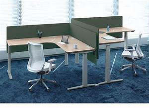 Fashion Corner Table With Electric Height Adjustable Sit