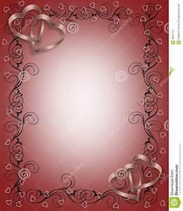 Wedding Invitation Border Red Stock Illustration - Image ...