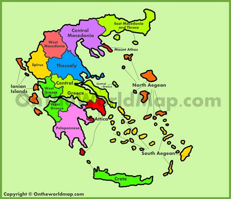 administrative map  greece