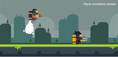 Mechanism Cam Flat Jetpack Animated Animation Pixel