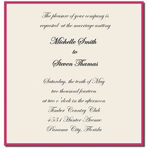 wedding invitation sample wording template best template With wedding invitations words sample