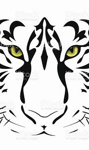 Tigers Eyes And Stripes Stock Illustration - Download ...