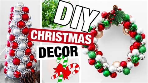 Diy Christmas Decor 2017! Fun Diy Holiday Decorations Rooms To Go Kids Tampa Designing Living Room Layout Small Dining Built In Sliding Panel Dividers Server Sitting Chairs Designs Country French