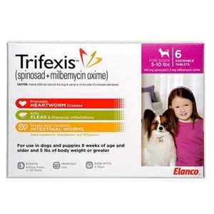 trifexis  dogs   lbs  chewable tablets pink