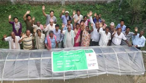 training encourages commercial vegetable  fish farming
