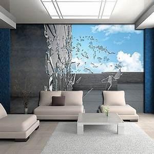 Grau Blaue Wand : poster tapeten fototapete bild himmel glas blau wand grau abstraktion 3d 2804 p8 eur 39 90 ~ Watch28wear.com Haus und Dekorationen