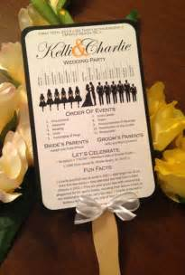 rustic wedding fan programs a up of free wedding fan programs b lovely events