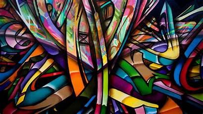 Graffiti Wall Colorful Abstract
