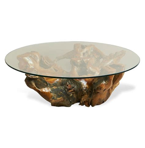 teak root coffee table hedin rustic lodge glass teak root round coffee table