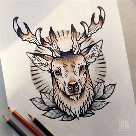 pin  jordan campbell  tattoo ideas pinterest deer