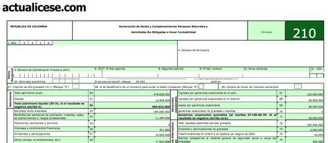 Descargar Formulario 210 Año 2013 saslociran