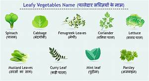 Vegetable Names In English And Hindi