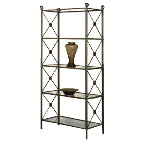 wrought iron etagere neoclassic wrought iron etagere 4 glass shelves dcg stores