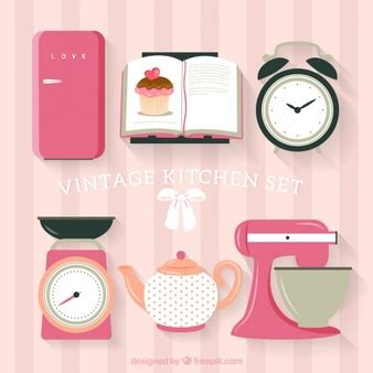 set de cuisine vintage frigo vecteurs et photos gratuites
