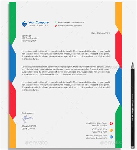 premium business letterhead word templates