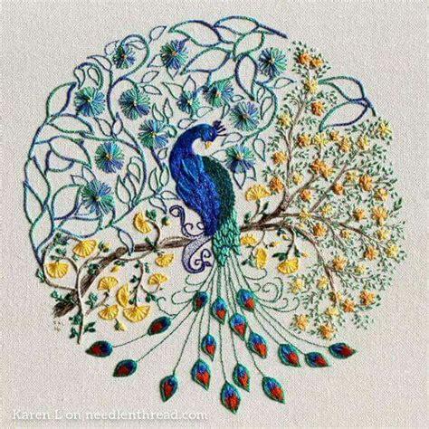 bordado pavo real bordados bordado como hacer bordado