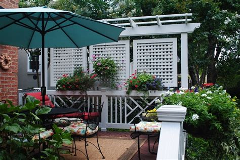 Backyard Screening Options by Privacy Solutions For Your Columbia Sc Deck Custom Decks
