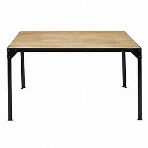 Table En Manguier : table manger en manguier massif et m tal 6 personnes l140 factory maisons du monde ~ Teatrodelosmanantiales.com Idées de Décoration