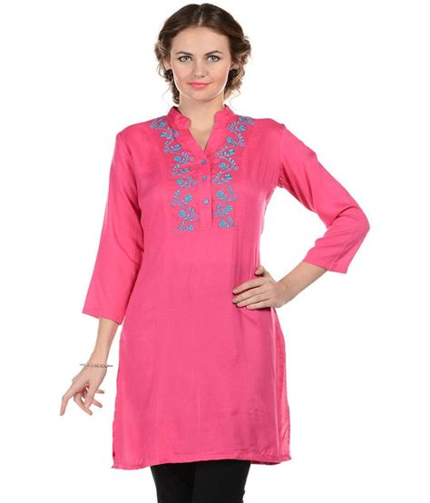 Boat Neck Kurti Tops by 59 On Sritika Pink Cotton Boat Neck Kurti On Snapdeal