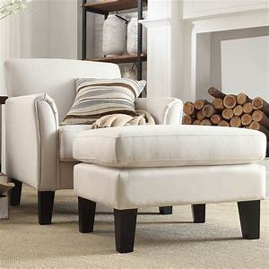 Oxford, Creek, Park, Hill, Arm, Chair, And, Ottoman, Set, In, White, -, Home, -, Furniture