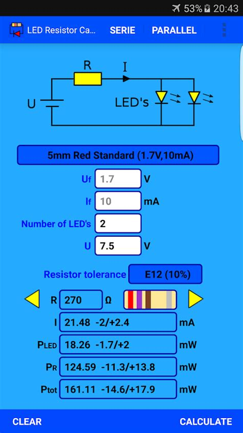 led resistor calculator android apps  google play