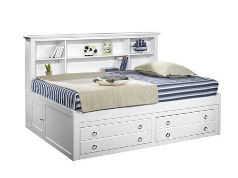 victoria lounge day bed  white wash king single