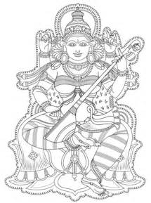 kerala mural coloring page  printable coloring pages