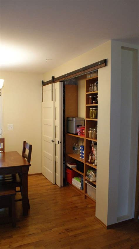 hometalk  pantry build  sliding barn style doors