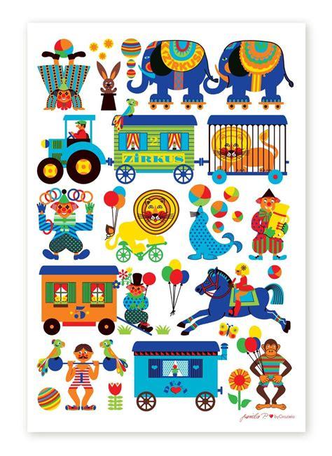 Ikea Kinderzimmer Poster by Bygraziela Kinderzimmer Poster Zirkus 50 X 70 Cm Retro