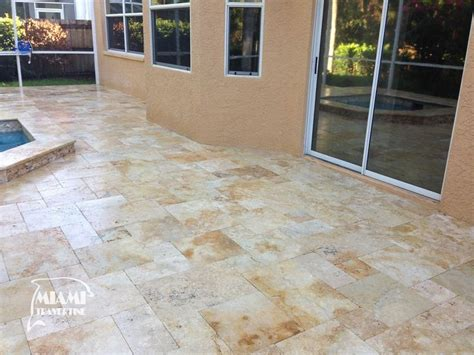 Travertine Tile French Pattern Country Classic