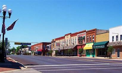 Michigan Chesaning Towns Downtown Town Mi Commons
