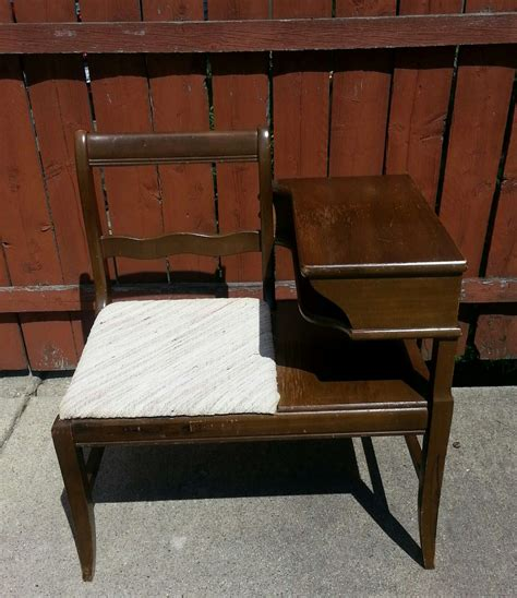 Vintage Mid Century Modern Telephone Bench For Sale In