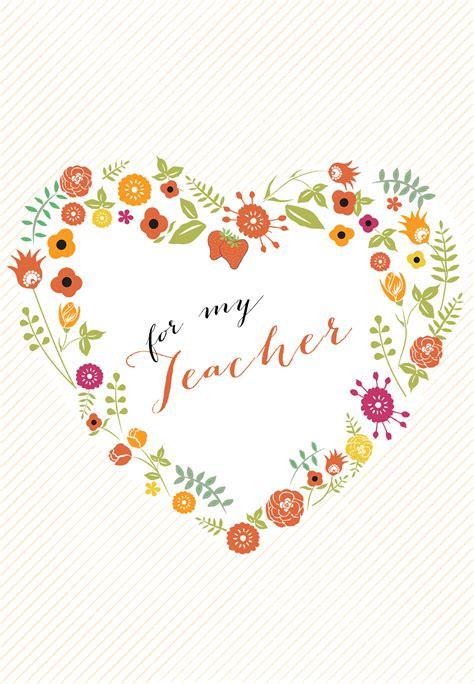 heartfelt teacher    card  teacher