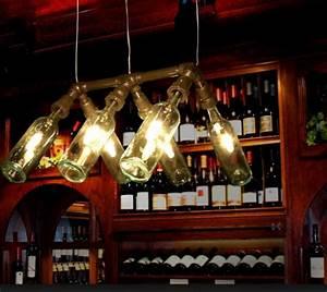 42 Deko Ideen Fr DIY Lampen Und Leuchten Aus Glasflaschen