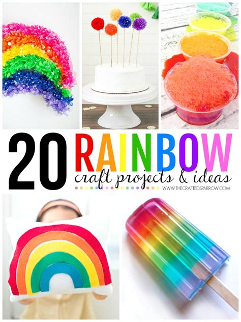 craft ideas for toddlers easy 20 rainbow craft projects ideas 7757